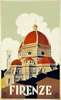 TX234 Vintage Italy Firenze Florence Italian Travel Poster Re-Print A1/A2/A3/A4