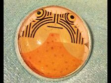 "Charley Harper Mod Puffer Fish Ocean 1"" Glass Metal Sewing Button Charles CH220"