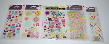 LOT Stickers Scrapbooking Alphabet Letters Flowers Puffy Birds Candy Variety