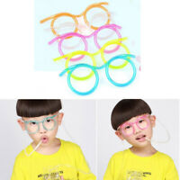 KQ_ Wacky Glasses Drinking Straw DIY Children Kids Party Holiday Drinkware Surpr