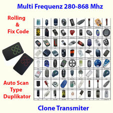 Universal trasmettitori manuali TELECOMANDO GARAGE 280-868mhz Fix e rollcoden