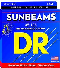 DR Strings NMR5-45 SUNBEAMS Nickel Plated Bass Guitar Strings - Medium - 5-Strin