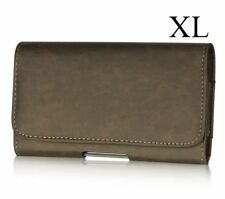 iPhone 6+ / 6S+ Plus  -  BROWN Leather Pouch Holder Belt Clip Holster Cover Case