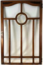 Vintage Mahogany Built-In Cabinet Door c1930s Beveled Glass Excellent Condition