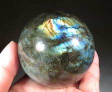 "61 mm (2.4"") Nice Golden Flash Labradorite Crystal Sphere Ball"