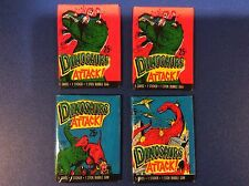 4 packs Topps Dinosaurs Attack Wax Pack 5 cards NO GUM 1 sticker FREE SHIPPING