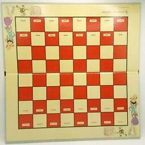 Chess For Juniors Game Board Only Replacement Game Piece Selright 1963