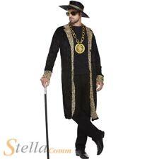 Mens Pimp Fancy Dress Costume 60s 70s Retro Big Daddy Rapper Gangster Outfit