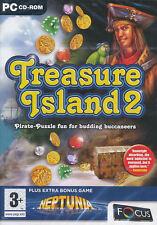 TREASURE ISLAND 2 II +FREE BONUS Puzzle PC Game NEW BOX