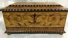 Decor wood table top box Regency period. Faux marquerty