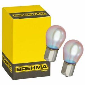 2x BREHMA Chroma vision PY21W Blinkerbirnen BAU15S Blinkerlampen 12V 21W