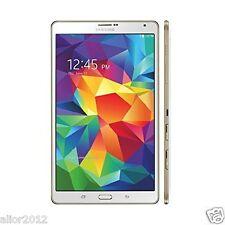 "Samsung Galaxy Tab S T705 White 8.4"" Wifi 4G LTE 16GB 3GB Unlocked Tablet 3 Gift"