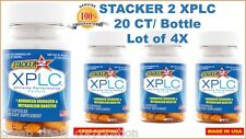 Stacker 2 XPLC Weight Loss Dietary Sup. 20 ct Bottle Lot of 4 X = (80 Capsules)