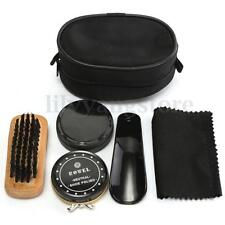 5 IN 1 Cleaning Shoe Shine Care Kit Polish Brush Set For Boots Shoes Sneakers