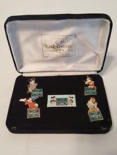 Disneyland Dlr - Wdcc Mickey Through The Years 5 Pin Set with Case Nib