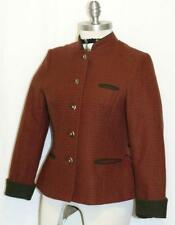 "Plaid WOOL JACKET Winter Short Coat German Dirndl Women Hunting Riding B36"" 6 S"