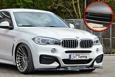 Spoilerschwert Frontspoiler Cuplippe ABS für BMW X6 F16 M-Paket schwarz glanz