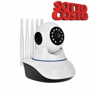 TELECAMERA IP CAM WIFI HD 1080P WIRELESS LED 5 ANTENNE 2MP IR MOTORIZZA wi-fi