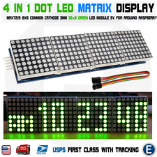 4 in 1 matrix 8x32 green led display module max7219 32x8 Arduino Raspberry Pi