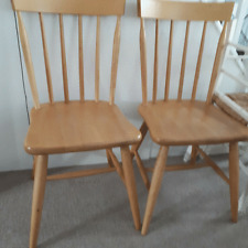 4 x Pine Farmhouse/Country kitchen Dining Chairs.