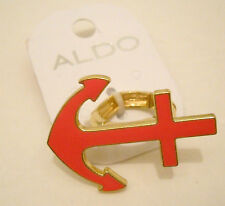 Anchor Ring Aldo Neon Pink Gold Tone Stretch One Size Metal No Stone Statement