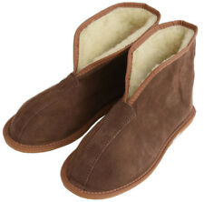 Womens Mens Unisex Suede Leather And Sheep's Wool Slipper Boots All Size