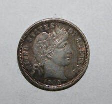 1892  BARBER SILVER DIME  ABO26