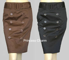 Cotton Blend Above Knee Regular Size Skirts for Women