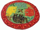 """32"""" GREEN TRIBAL DÉCOR WALL HANGING TAPESTRY THROW GUJRATI EMBROIDERY  ETHNIC"""