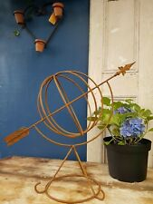 More details for decorative steel armilliary sphere. uk made. garden art.