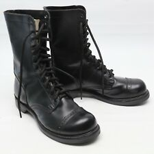 NWOB Double H Brand Jump Boots 9 E Black Leather 795 HH Cap Toe Paratrooper