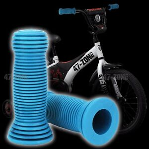 2x Light Blue BMX OE Style Soft Rubber Bicycle Handle Bar Non Slip Grip Covers