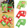 pouch Xmas Home Decor Christmas Kraft Gift Bag Paper Candy Boxes Pillow Shape