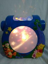 Vintage TOMY Disney Winnie Pooh Cot Night Light Projector Music Light Sound Blue