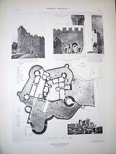 Château de Bonaguil (Lot-et-Garonne) planche début XX°