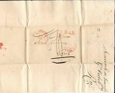 BELGIUM-1837 FL (stampless covers)- 4 to Paris, priced right
