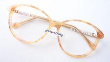 Occhiali MONTATURA FRAME 70s da donna grande in vetro forma beige chiaro marchio Neostyle SIZE L