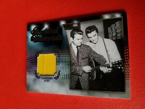 ELVIS PRESLEY WORN SUN RECORDS JACKET RELIC SWATCH PIECE CARD 2012 PRESS PASS