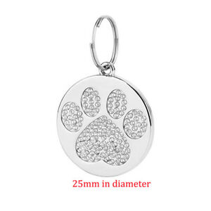 Personalized Free Engraving Pet Cat Name Tags Bone Paw Dog ID Tag Collar Pendant