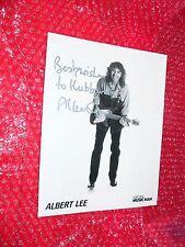ALBERT LEE AUTOGRAPH Photo   Ernie Ball   Music Man