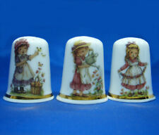 Birchcroft Thimbles -- Set of Three -- Garden Flower Girls