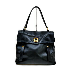 Yves Saint Laurent Hand Bag  Black Leather 1727948