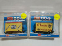 Peco 009 Narrow Gauge GR-900 Colmans box van and GR-902 Fyffes box van
