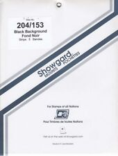 Showgard Long Stamp Mounts 204/153 For US Sheets Bicentennial Black Pack Of 5