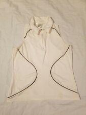 Nike Golf Womens M (8-10) Dri Fit Vest Shirt half zip white