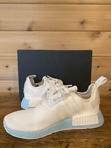 Adidas NMD R1 White Clear Aqua Women's Running Shoe Size 8 EF4273
