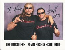 Scott Hall & Kevin Nash - Wrestling stars - The Outsiders signed photo