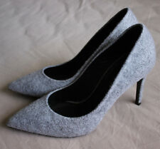 Warsaw Bohoboco Women's Grey Wool High Heel Shoes Size 37.5 Good Used Condition
