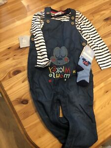 Disney Store Mickey Mouse Dungarees 18-24 Months