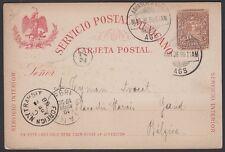 MEXICO, 1898. Post Card H&G 87, Aguascalientes - Gand, Belgium